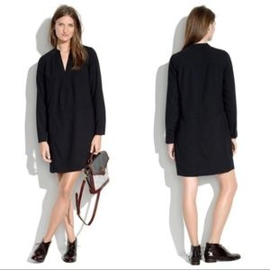 MADEWELL Director Shift Dress in Black